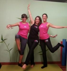 Bea, Elena y María. Compañeras de EFis Pilates